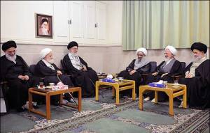 seyed-ali-Khamenei-Javad-Amoli-Noori-Hamedani-Meeting-in-Tehran-Iran